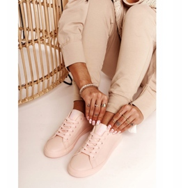 Women's Leather Sneakers Big Star HH274141 Light Pink 1