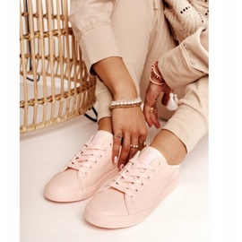 Women's Leather Sneakers Big Star HH274141 Light Pink 4