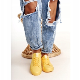 Women's Leather Sneakers Big Star HH274142 Yellow 1
