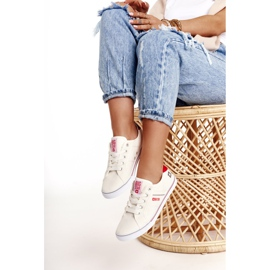 Women's sneakers Big Star DD274892 White-Red 4