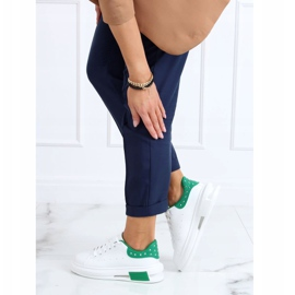 Women's white and green sneakers SC36 WHITE / GREEN 1