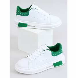 Women's white and green sneakers SC36 WHITE / GREEN 4