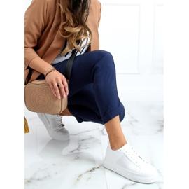 White sneakers on a high sole LA133P White 2