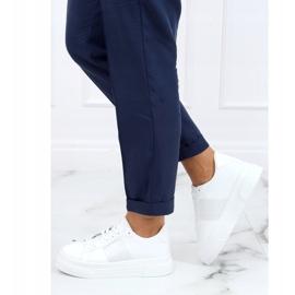 White sneakers on a high sole LA133P White 3