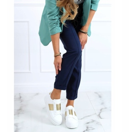 High-soled sneakers white and gold LA133P Gold golden 1