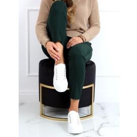 Women's sneakers with white studs LA124P Beige 2