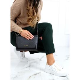 Women's sneakers with white studs LA124P Beige 1