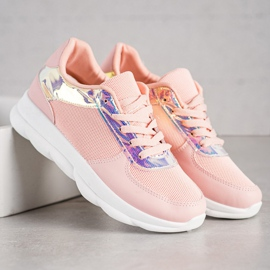 SHELOVET Classic Powder Sneakers pink 2