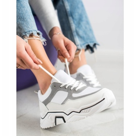 SHELOVET Comfortable sports sneakers white grey multicolored 4