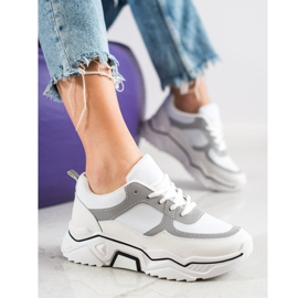 SHELOVET Comfortable sports sneakers white grey multicolored 1