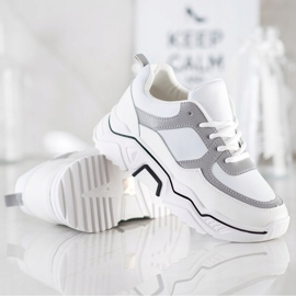 SHELOVET Comfortable sports sneakers white grey multicolored 2