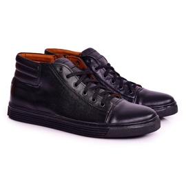 Bednarek Polish Shoes Men's Leather Shoes Sneakers Bednarek Black 1