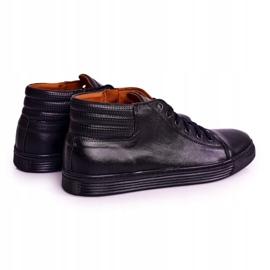 Bednarek Polish Shoes Men's Leather Shoes Sneakers Bednarek Black 2