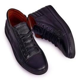 Bednarek Polish Shoes Men's Leather Shoes Sneakers Bednarek Black 4