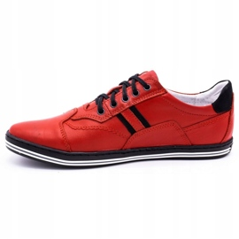 Polbut Casual men's shoes 1801L red with black 9