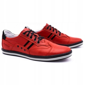 Polbut Casual men's shoes 1801L red with black 1