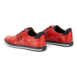 Polbut Casual men's shoes 1801L red with black 8