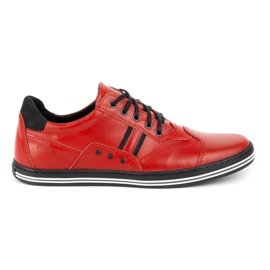 Polbut Casual men's shoes 1801L red with black 2