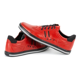 Polbut Casual men's shoes 1801L red with black 7