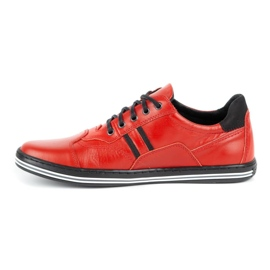 Polbut Casual men's shoes 1801L red with black 3