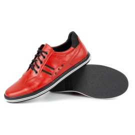 Polbut Casual men's shoes 1801L red with black 5