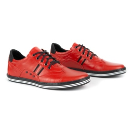 Polbut Casual men's shoes 1801L red with black 4