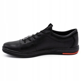 Polbut Black casual leather men's shoes K23 7