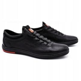 Polbut Black casual leather men's shoes K23 1