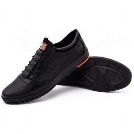Polbut Black casual leather men's shoes K23 2