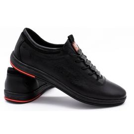 Polbut Black casual leather men's shoes K23 3