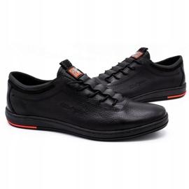 Polbut Black casual leather men's shoes K23 4