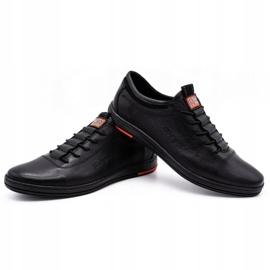 Polbut Black casual leather men's shoes K23 5