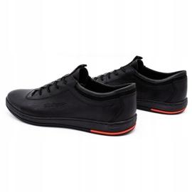 Polbut Black casual leather men's shoes K23 6