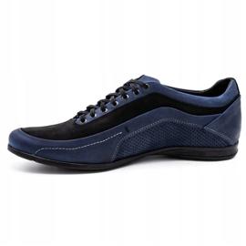 Polbut Men's casual shoes 2101P navy blue 1