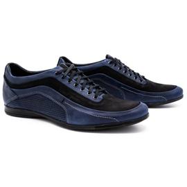 Polbut Men's casual shoes 2101P navy blue 2