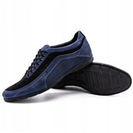 Polbut Men's casual shoes 2101P navy blue 3