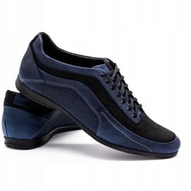 Polbut Men's casual shoes 2101P navy blue 4
