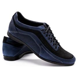 Polbut Men's casual shoes 2101P navy blue 7
