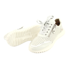 Caprice sneakers tęg.H 23750 white comb silver 3