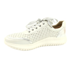 Caprice sneakers tęg.H 23750 white comb silver 1