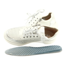 Caprice sneakers tęg.H 23750 white comb silver 5