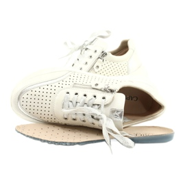 Caprice sneakers tęg.H 23750 white comb silver 4