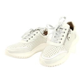 Caprice sneakers tęg.H 23750 white comb silver 2