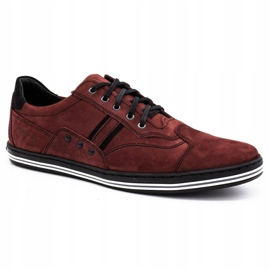 Polbut 1801 burgundy men's casual shoes red 1