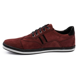 Polbut 1801 burgundy men's casual shoes red 2
