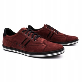 Polbut 1801 burgundy men's casual shoes red 3