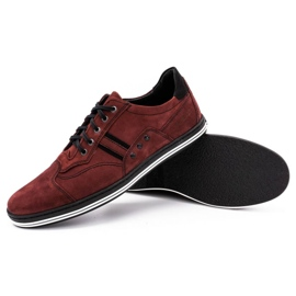 Polbut 1801 burgundy men's casual shoes red 4