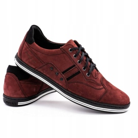 Polbut 1801 burgundy men's casual shoes red 5