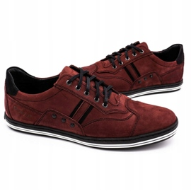 Polbut 1801 burgundy men's casual shoes red 6