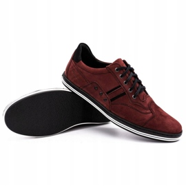 Polbut 1801 burgundy men's casual shoes red 7